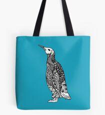Zentangle Penguin Tote Bag
