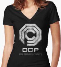 OCP - Grunge Women's Fitted V-Neck T-Shirt