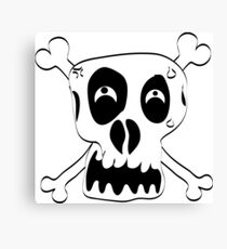 Freehand Funny Skull Canvas Print