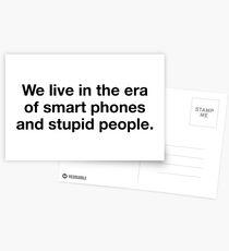 Stupid People Postcards