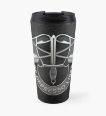 U.S. Army Special Forces - Green Berets DUI over Black Velvet Travel Mug