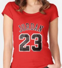 Jordan 23 Jersey Worn Women's Fitted Scoop T-Shirt