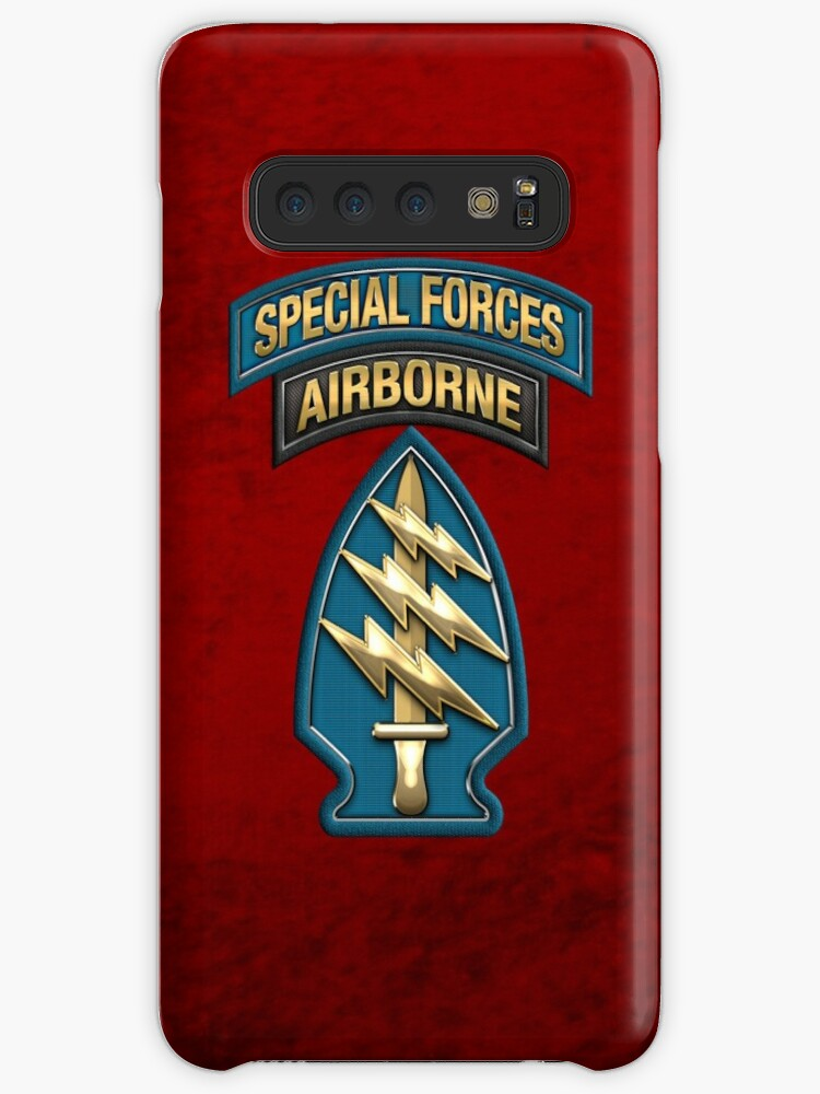'U S  Army Special Forces - Green Berets SSI over Red Velvet' Case/Skin for  Samsung Galaxy by Serge Averbukh