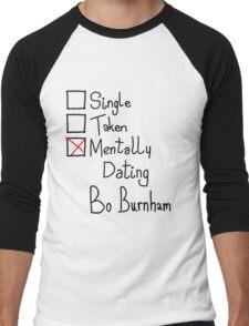 Mentally Dating Bo Burnham Men's Baseball ¾ T-Shirt