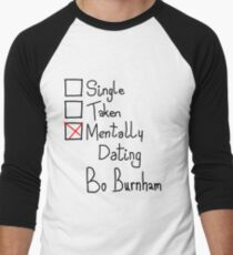 Mentally Dating Bo Burnham Men's Baseball ¾ T-Shirt