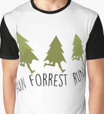 Run Forrest Run - Forrest Gump Graphic T-Shirt