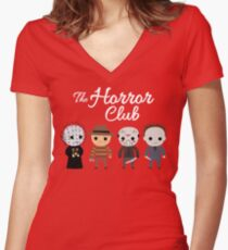 The Horror Club Women's Fitted V-Neck T-Shirt