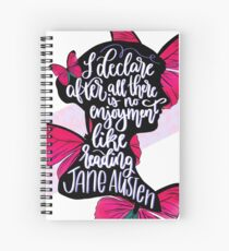 Jane Austen Quote Spiral Notebook