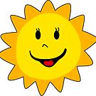 SUNSHINE SMILEY FACE CUTE HAND DRAWN SMILE POPULAR STICKERS TOP DECAL SUN by MyHandmadeSigns
