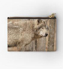 Wolf in Camo Studio Pouch