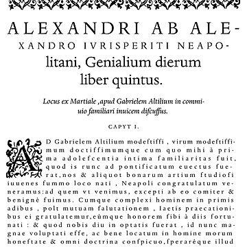 Alexander ab alexandro by leroimacaque