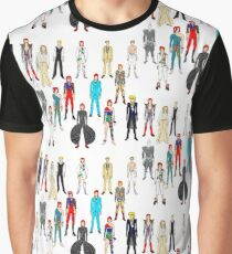 Outfits of Bowie Fashion Graphic T-Shirt