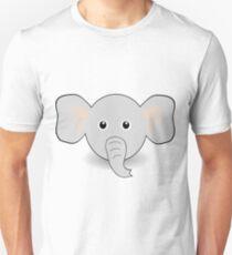 Funny Elephant Face Cartoon T-Shirt