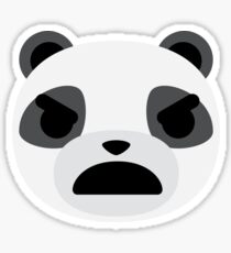 Emoji Panda Angry and Mean Face Sticker