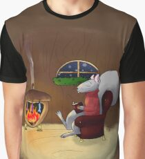 Evening by the Fireside Graphic T-Shirt