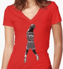 The JumpMan Women's Fitted V-Neck T-Shirt