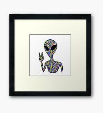 Trippy Alien 3 Framed Print