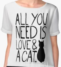 All You Need Is Love and A Cat Chiffon Top