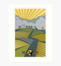 Retro Vlaanderen cycling poster Art Print