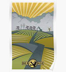 Retro Vlaanderen cycling poster Poster