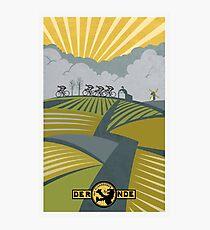 Retro Vlaanderen cycling poster Photographic Print