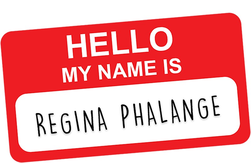 "My Name Is Name: ""HELLO MY NAME IS REGINA PHALANGE"" Stickers By Funkythings"