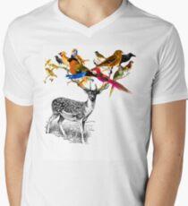 DEER BIRDY Men's V-Neck T-Shirt