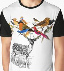 DEER BIRDY Graphic T-Shirt
