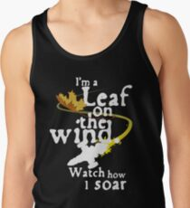 Leaf on the wind (white text) Tank Top