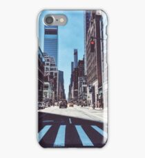 Red light in NYC iPhone Case/Skin