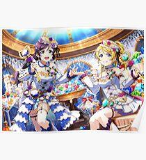 Love Live! Birthstone Set Idolized UR's: Eli Ayase and Nozomi Tojo Poster