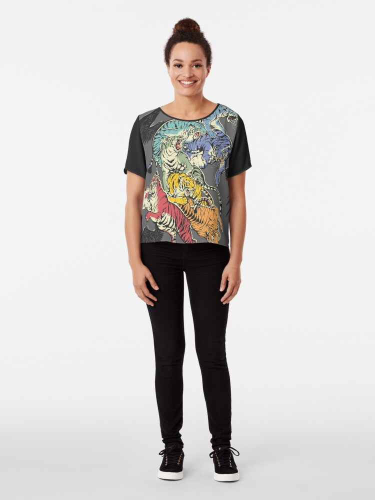 Alternate view of Seven Caged Tigers Chiffon Top
