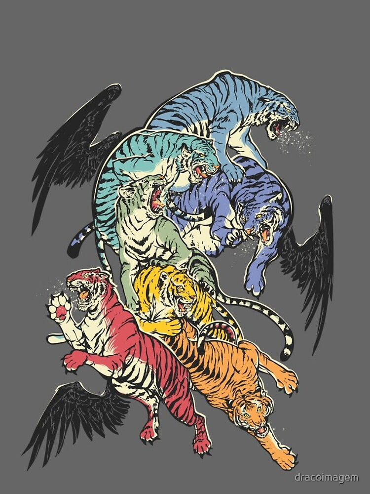 Seven Caged Tigers by dracoimagem