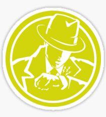 Dick Tracy - Minimal Yellow Logo Sticker