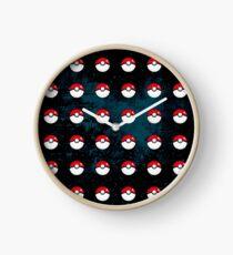 Pokeball Pattern Clock