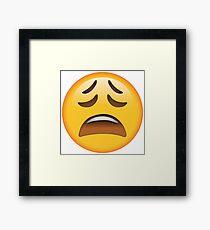 Weary Emoji Framed Print