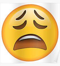 Weary Emoji Poster