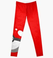 Red Pokeball Grunge  Leggings