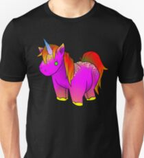 Neon Unicorn Stuffed Animal 2  Unisex T-Shirt