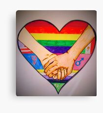 Strength Through Love Canvas Print
