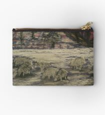 Sheep in Winter Studio Pouch