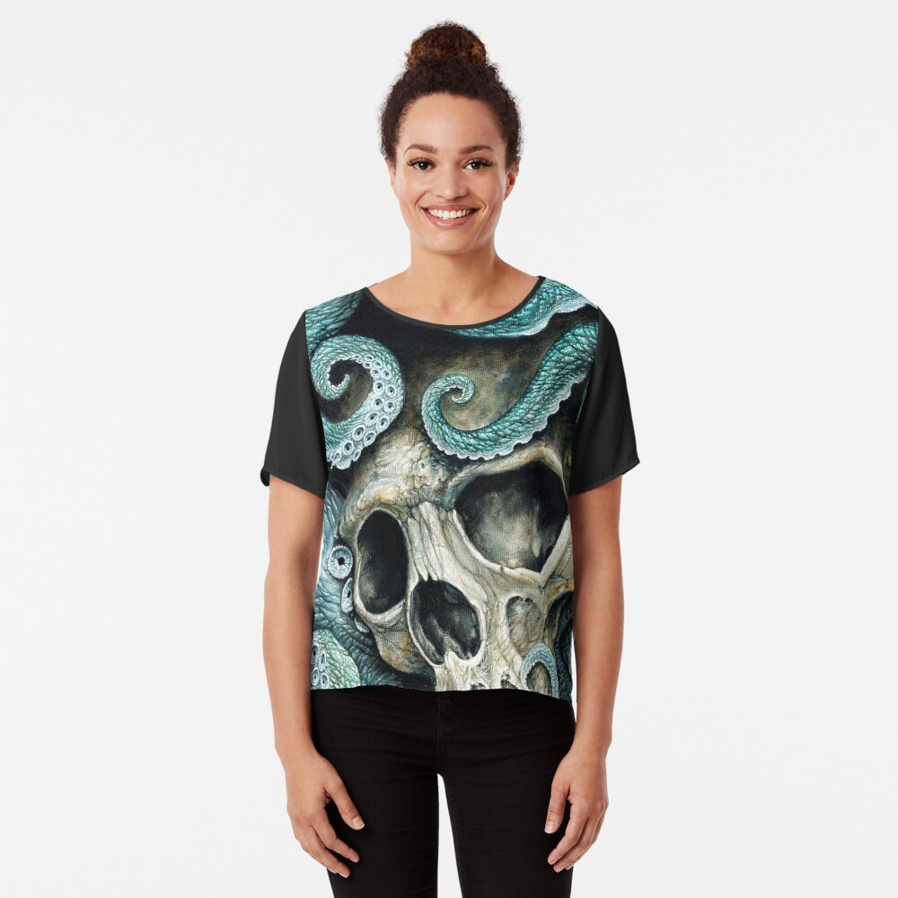 please love, don't die so far from the sea Chiffon Top