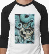 Camiseta ¾ estilo béisbol por favor amor, no mueras tan lejos del mar
