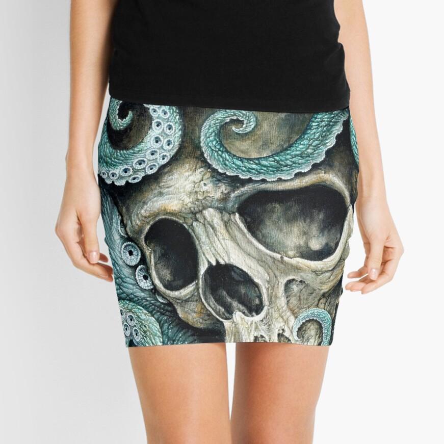 please love, don't die so far from the sea Mini Skirt