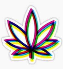 Blurry Marijuana Leaf Sticker