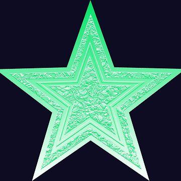Mint Green Star by dohcom