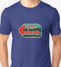 Colorful Colorado Vintage Travel Decal T-Shirt