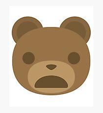 Emoji Teddy Bear Photographic Print