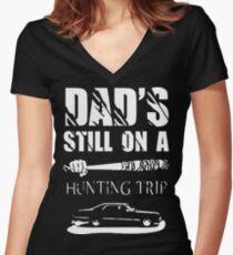 TWD/SPN - Negan/John Winchester's Hunt Trip Women's Fitted V-Neck T-Shirt