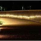 Night shot of the Bridge towards the National Carillon/Canberra by Wolf Sverak